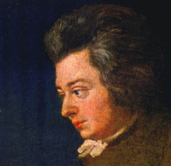 Mozart in a 1782 portrait painted by his brother-in-law, Joseph Lange.