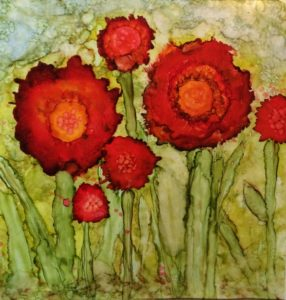 """Red Poppies,"" watercolor by Tracy Breithaupt"