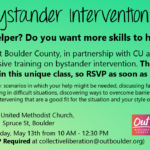 Out Boulder bystander training